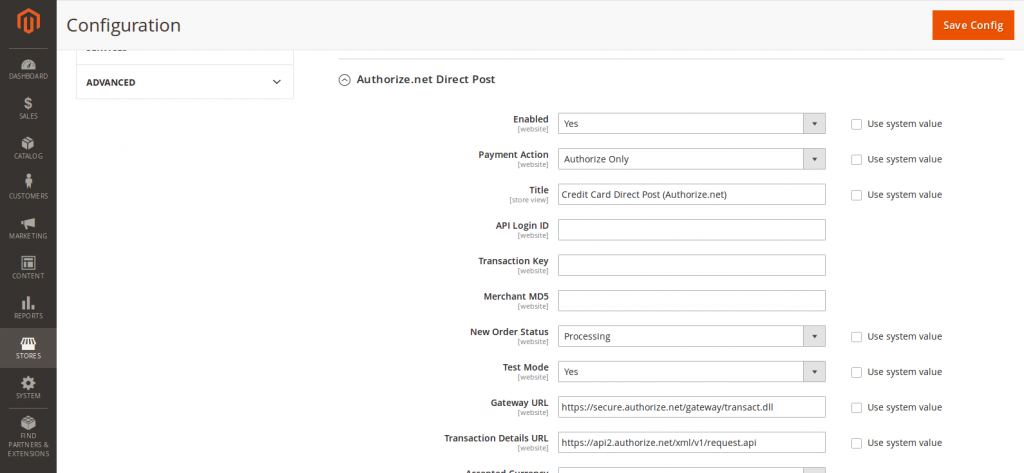 How to setup Authorize net in Magento 2? – Aureate Labs